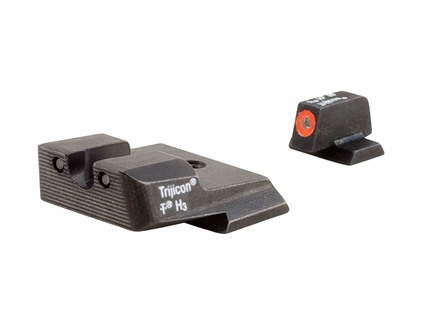 Trijicon HD Night Sight Set Smith & Wesson M&P Steel Matte 3-Dot Tritium Green with Orange Front Dot Outline