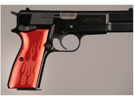 Hogue Extreme Series Grip Browning Hi-Power Flames Aluminum Red