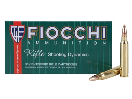 Fiocchi Shooting Dynamics Ammunition 223 Remington 55 Grain Full Metal Jacket Box of 50