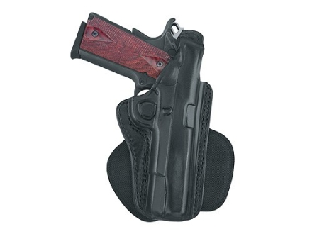 Gould & Goodrich B807 Paddle Holster Left Hand 1911 Government, Commander, Browning Hi-Power Leather Black