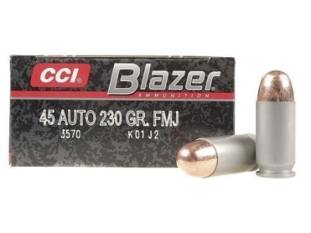 CCI Blazer Ammunition 45 ACP 230 Grain Full Metal Jacket Box of 50