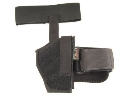 "Uncle Mike's Ankle Holster Right Hand Medium Semi-Automatic 3"" to 4"" Barrel Nylon Black"