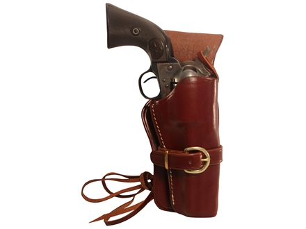 "Triple K 114 Cheyenne Western Holster Right Hand Colt Single Action Army, Ruger Blackhawk, Vaquero 5.5"" Barrel Leather Brown"