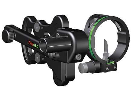 "TRUGLO Range Rover 1 Light 1-Pin Bow Sight .019"" Pin Diameter Ambidextrous Aluminum Black"