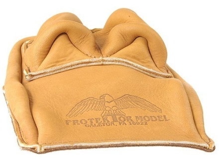 Protektor Bunny Ear Rear Shooting Rest Bag Leather Tan Unfilled