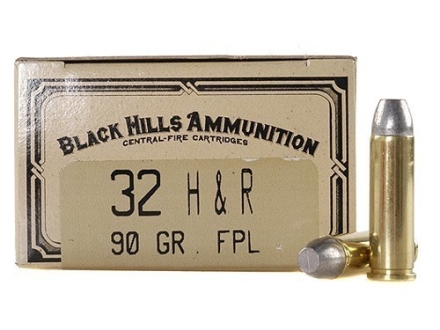 Black Hills Cowboy Action Ammunition 32 H&amp;R Magnum 90 Grain Lead Flat Point Box of 50