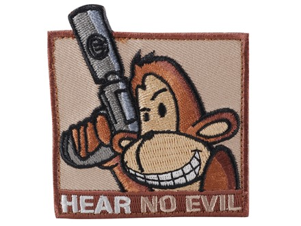 Advanced Armament Co (AAC) Monkey Hear No Evil Patch Velcro Tan