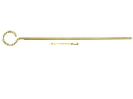 "Dewey 1-Piece Cleaning Rod 22 to 45 Caliber 9"" Brass 8 x 32 Thread"