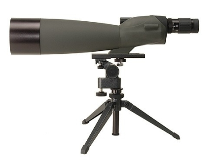 Barska Blackhawk Spotting Scope 22-67x 100mm with Tripod and Soft Case Rubber Armored Green