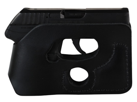 DeSantis Pocket Shot Holster Ambidextrous Ruger LCP, Kel-Tec P32, P3AT, Kahr P380, Taurus 738 TCP Leather Black