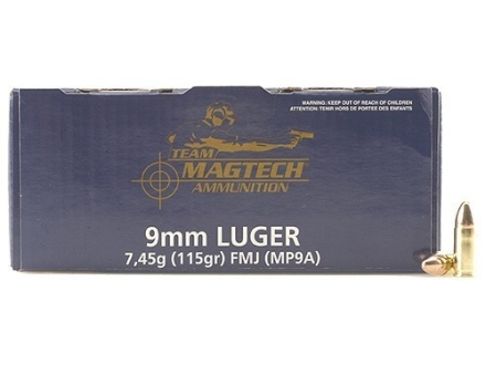 Magtech Shootin&#39; Size Ammunition 9mm Luger 115 Grain Full Metal Jacket Box of 250
