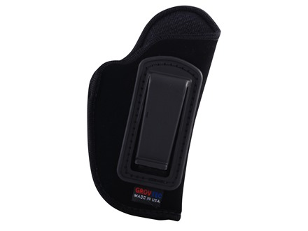 GrovTec GT Inside the Waistband Holster Right Hand Size 10 for Small Rimfire and 25 ACP Semi-Automatics Nylon Black