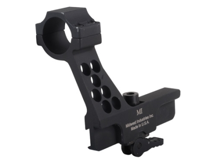 Midwest Industries Quick Detach Red Dot Sight Mount with Integral 30mm Ring AK-47, AK-74 Side Rail Matte