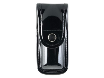"Bianchi 7907 AccuMold Elite Pepper Spray Pouch Large 7-1/4"" Chrome Snap Synthetic Leather Black"
