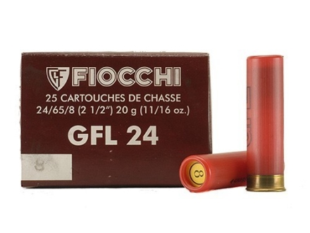 "Fiocchi Field Load Ammunition 24 Gauge 2-1/2"" 11/16 oz #8 Shot Box of 25"