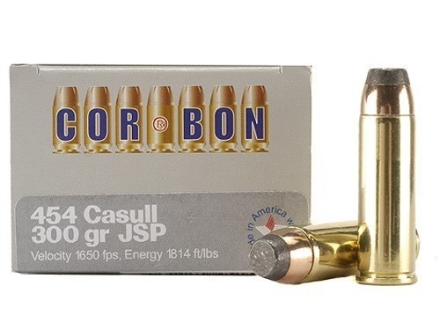 Cor-Bon Hunter Ammunition 454 Casull 300 Grain Jacketed Soft Point Box of 20