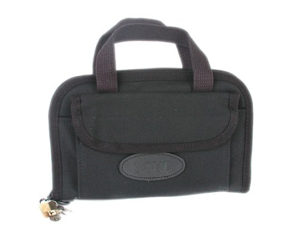 "Boyt Pistol Gun Case 9"" x 6"" Canvas Black"