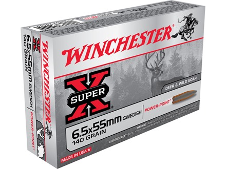 Winchester Super-X Ammunition 6.5x55mm Swedish Mauser 140 Grain Soft Point Box of 20