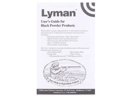 &quot;Black Powder Users Guide&quot; Book by Lyman