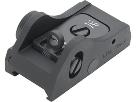 LPA BAR Tactical Series Ghost Ring Rear Sight Weaver-Style Mount Steel Blue
