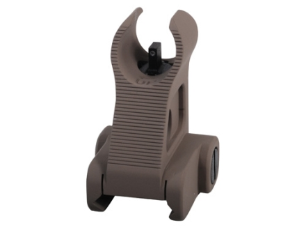 Troy Industries Front Fixed Battle Sight HK-Style with Tritium AR-15 Handguard Height Aluminum Flat Dark Earth