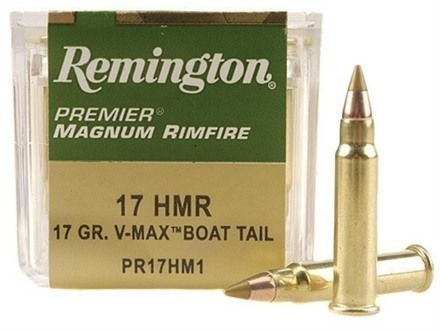 Remington Premier Ammunition 17 Hornady Magnum Rimfire (HMR) 17 Grain Hornady V-Max