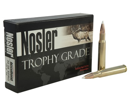 Nosler Trophy Grade Ammunition 30-06 Springfield 165 Grain AccuBond Box of 20