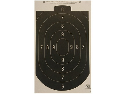 NRA Official Action Pistol Target B-24 50' Paper Package of 100