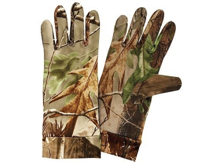Hunter&#39;s Specialties Long Cuff Dot Grip Gloves Polyester Realtree APG Camo