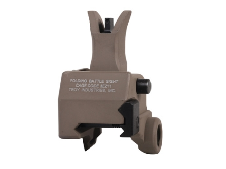 Troy Industries Front Flip-Up Battle Sight M4-Style with Tritium AR-15 Gas Block Height Aluminum Flat Dark Earth