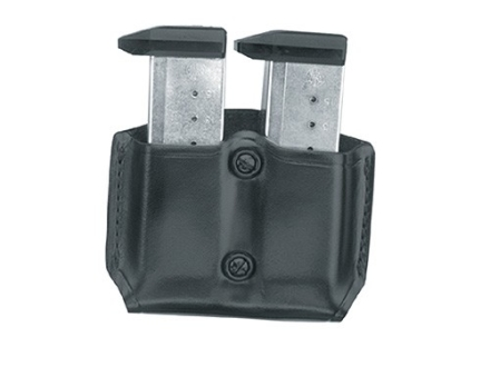 Gould &amp; Goodrich B831-1 Paddle Double Magazine Pouch 1911 Government, Kahr Micro MK9, Elite MK9, MK40, Covert 40, E9, K9, P9, K40, P40, Sig Sauer P230, P232, Walther PPK Leather Black