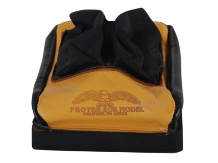 Protektor Custom Bumble Bee Dr Mid-Ear Rear Shooting Rest Bag Nylon and Leather Tan Unfilled
