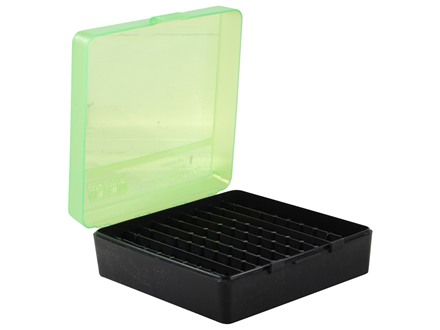 MTM Flip-Top Ammo Box 41 Remington Magnum, 44 Remington Magnum, 45 Colt (Long Colt) 100-Round Plastic