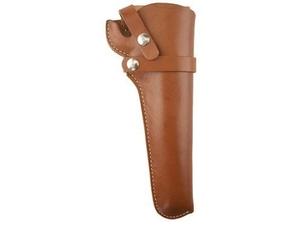 Hunter 1100 Snap-Off Belt Holster Right Hand 5.5&quot; Ruger Mark II Bull Barrel Leather Brown