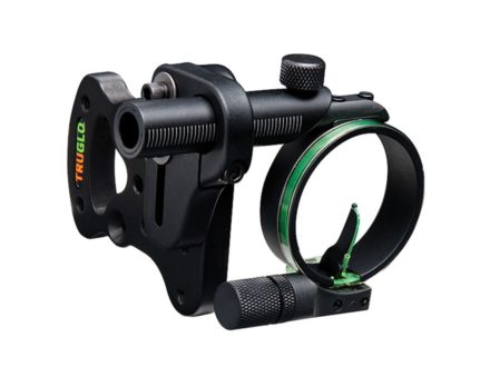 "TRUGLO Pendulum 1-Pin Bow Sight .029"" Pin Diameter Ambidextrous Aluminum Black"