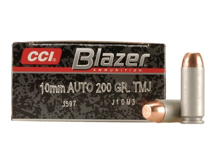CCI Blazer Ammunition 10mm Auto 200 Grain Total Metal Jacket Box of 50