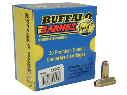 Buffalo Bore Ammunition 10mm Auto 155 Grain Barnes TAC-XP Jacketed Hollow Point Lead-Free Box of 20