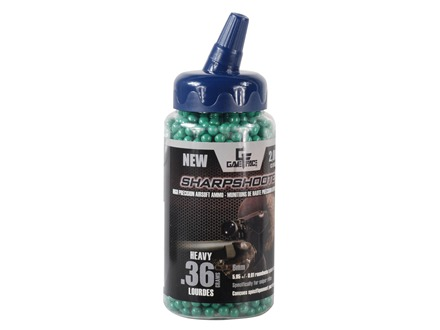 Gameface Airsoft BBs .36 Gram Sharpshooter Green Package of 2,000