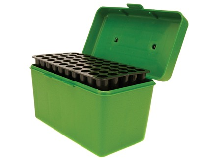 MTM Deluxe Flip-Top Ammo Box with Handle 264 Winchester Magnum to 458 Winchester Magnum 50-Round Plastic