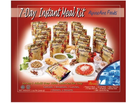 AlpineAire 7 Day Freeze Dried Meal Kit (25 pouches)