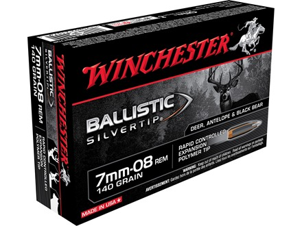 Winchester Supreme Ammunition 7mm-08 Remington 140 Grain Ballistic Silvertip Box of 20