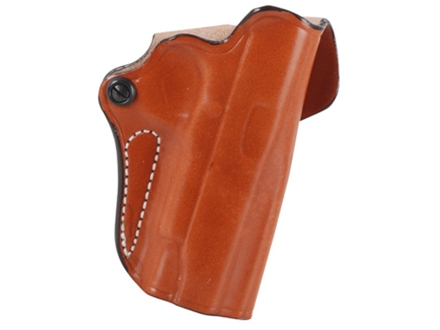 DeSantis Mini Scabbard Outside the Waistband Holster Right Hand 1911 Commander Leather Tan