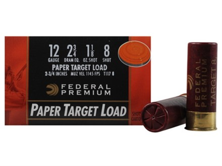 Federal Premium Gold Medal Paper Ammunition 12 Gauge 2-3/4&quot; 1-1/8 oz #8 Shot Box of 25