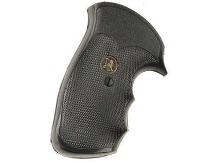 Pachmayr Gripper Grips with Finger Grooves S&amp;W N-Frame Square Butt Rubber Black