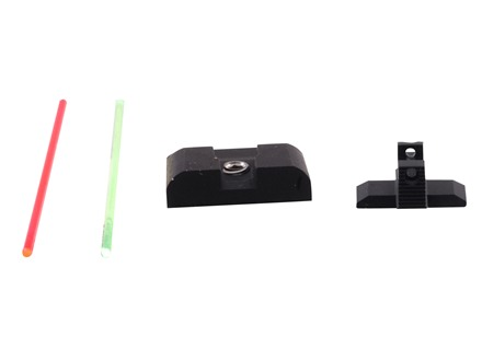 Warren Tactical Sight Set Springfield XD, XDM Sevigny Competition Rear, Fiber Optic Front Steel Matte
