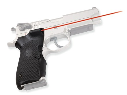 Crimson Trace Lasergrips S&W 3rd Generation Double Stack Semi-Automatic 410, 910, 4000, 5900 Series Overmolded Rubber Wrap-Around Black