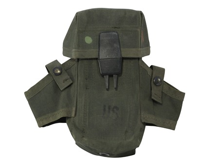 Military Surplus ALICE Magazine Pouch Holds 3 Magazines and Two Grenades Nylon Olive Drab