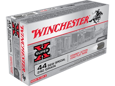 Winchester USA Cowboy Ammunition 44 Special 240 Grain Lead Flat Nose Box of 50
