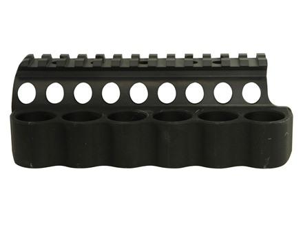 Mesa Tactical Sureshell Shotshell Ammunition Carrier with Picatinny Optic Rail 12 Gauge Benelli M4, M1014 6-Round Aluminum Matte