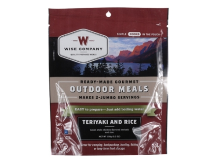 Wise Food Teriyaki Chicken and Rice Freeze Dried Meal 6 oz